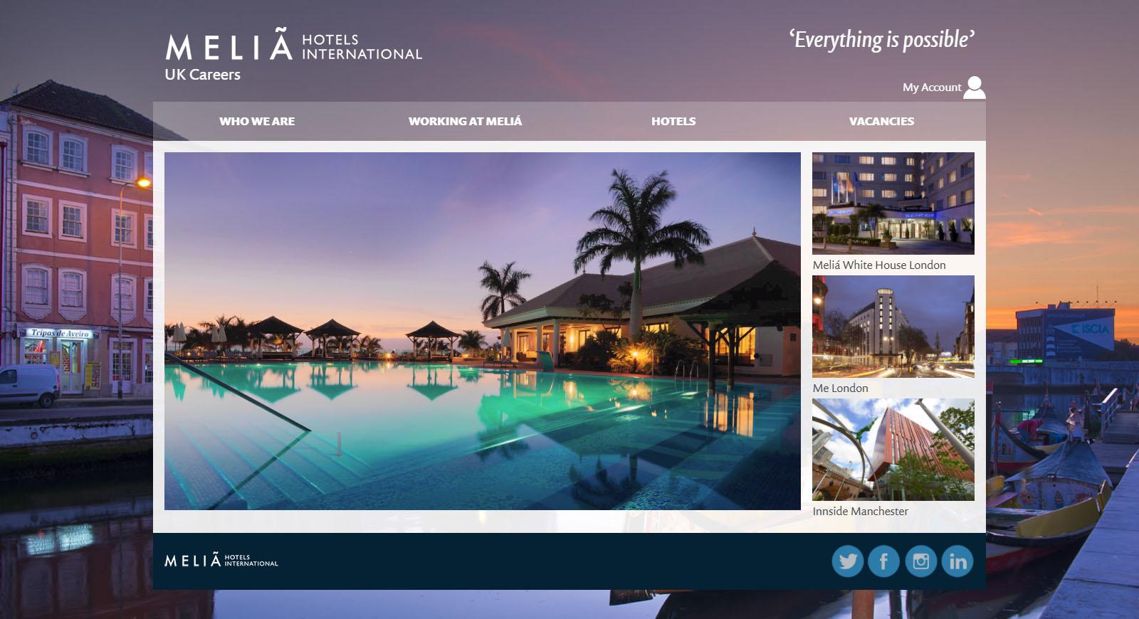 Responsive Careers Sitemelia Hotels International